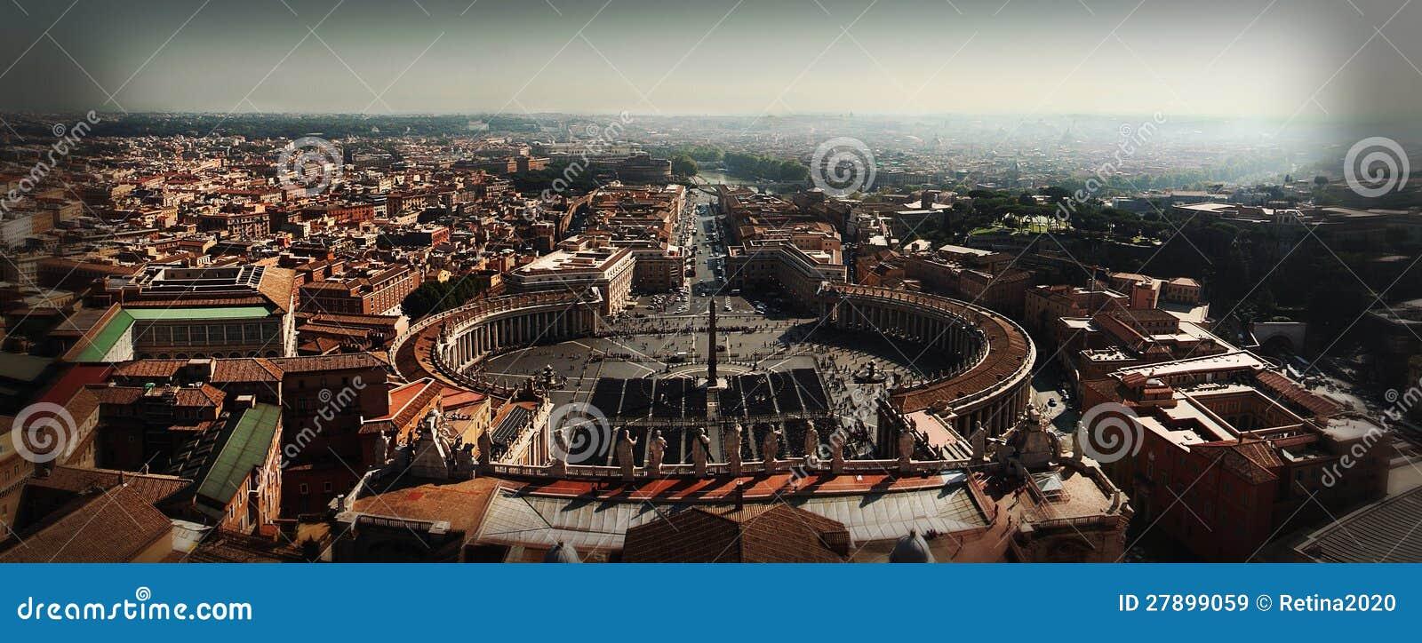 Puntada panorámica de Smartphone de la Ciudad del Vaticano