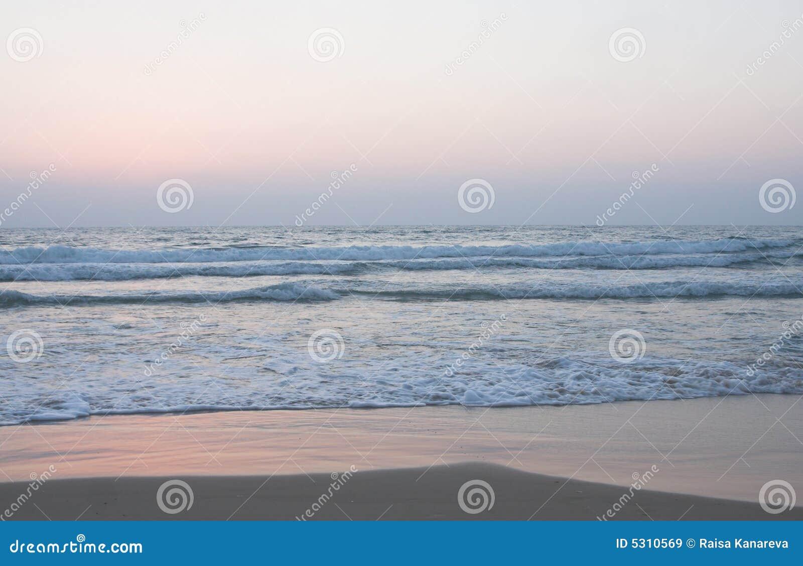 Download Puntello Dell'oceano Con La Spiaggia Sabbiosa Immagine Stock - Immagine di litorale, coastline: 5310569