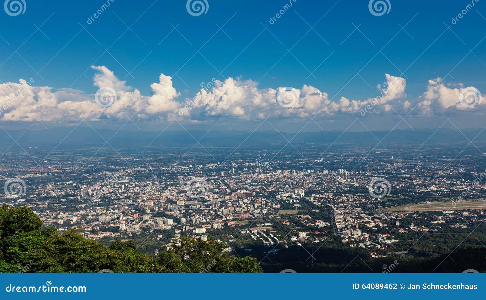 Punti di vista di Chiang Mai in Tailandia del Nord