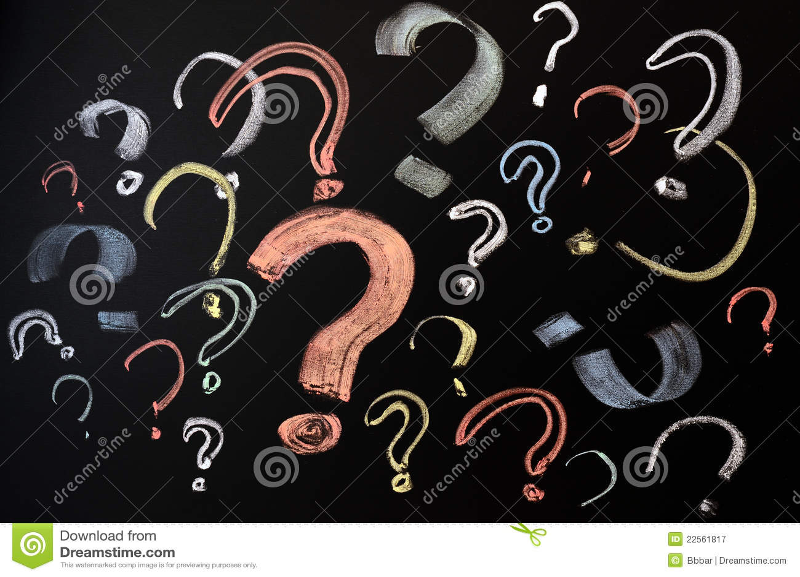 Punti Interrogativi Variopinti Immagine Stock Immagine Di