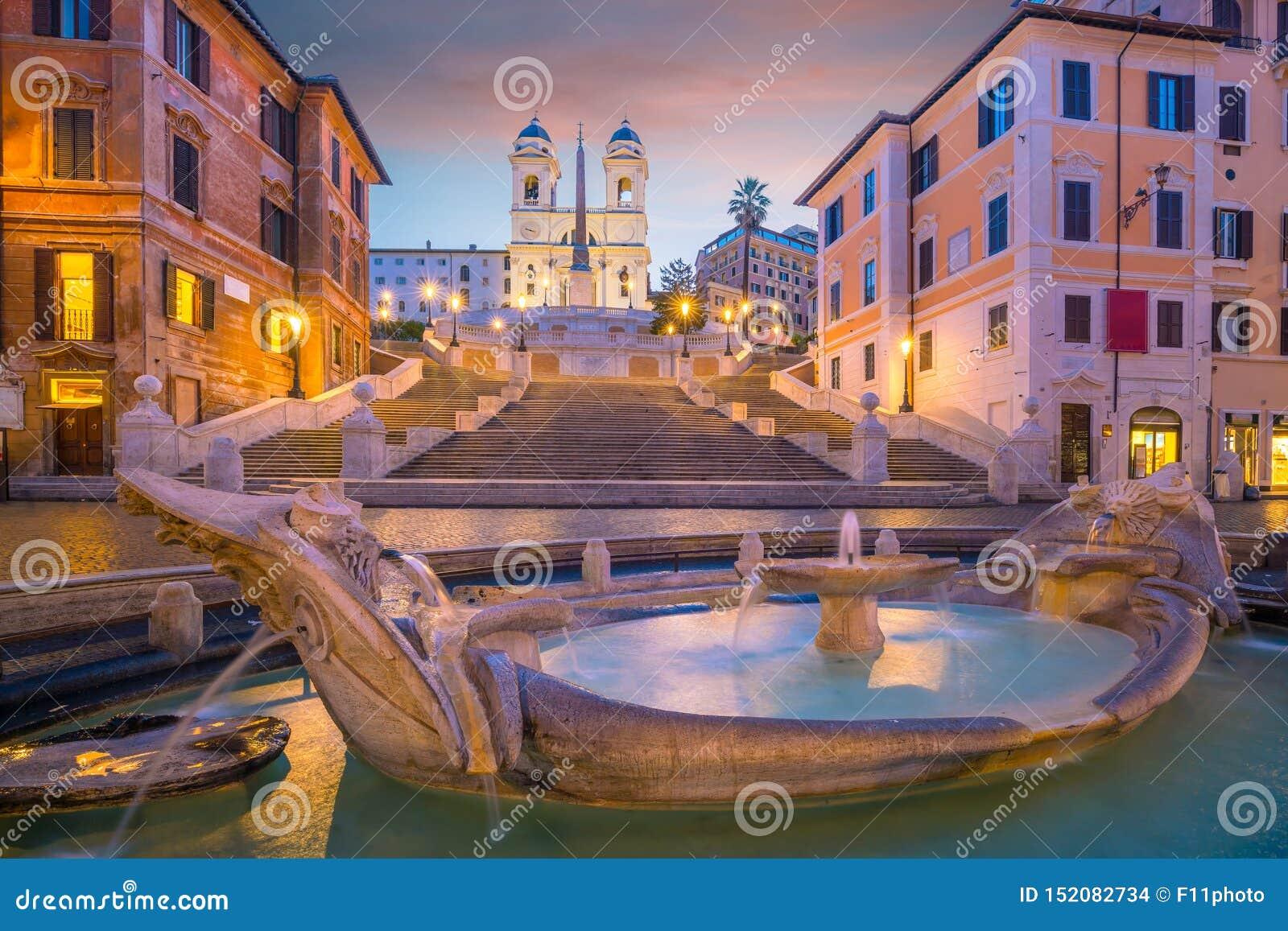 Punti spagnaSpanish del de della piazza a Roma, Italia