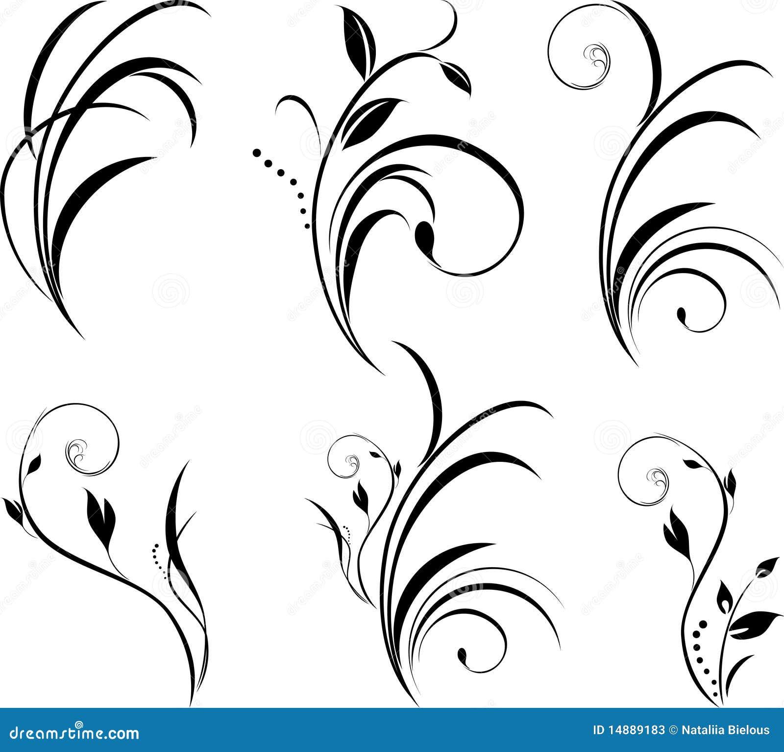 Puntillas elementos florales para la decoraci n - Hojas de decoracion ...