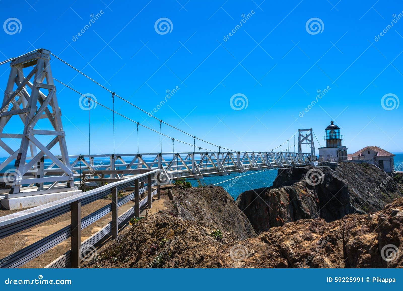 Download Punto Bonita Lighthouse, San Francisco Bay Foto editorial - Imagen de linterna, cubo: 59225991