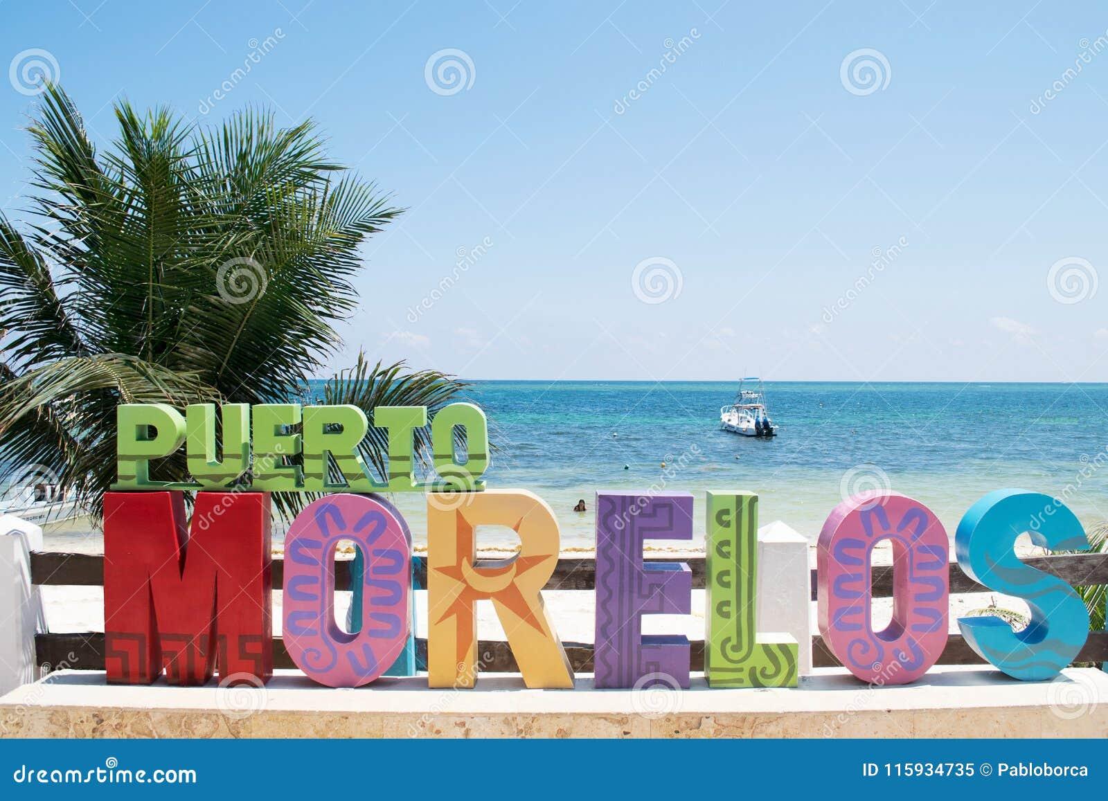Punto de Puerto Morelos en maya de Riviera, Yucatán