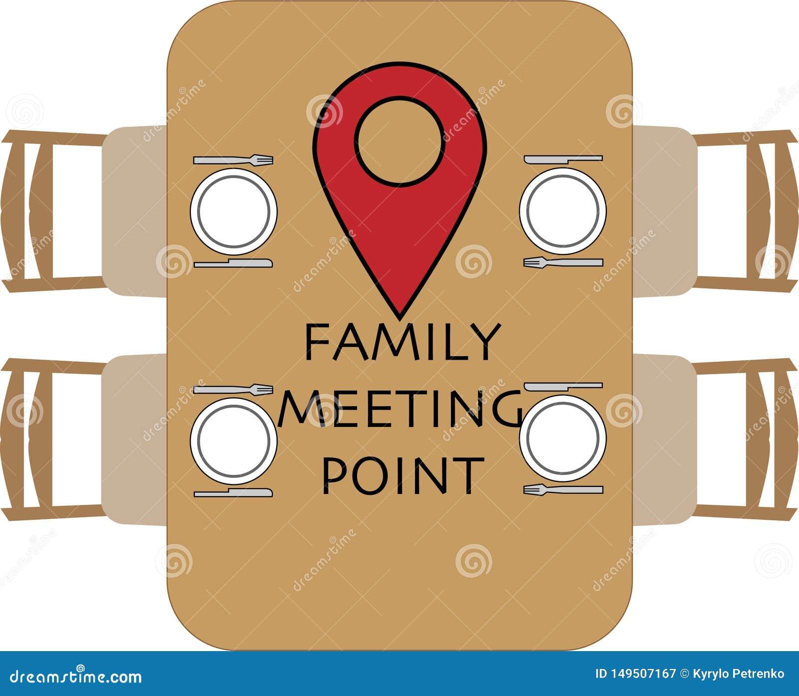 Punto de reuni?n de la familia en la mesa redonda