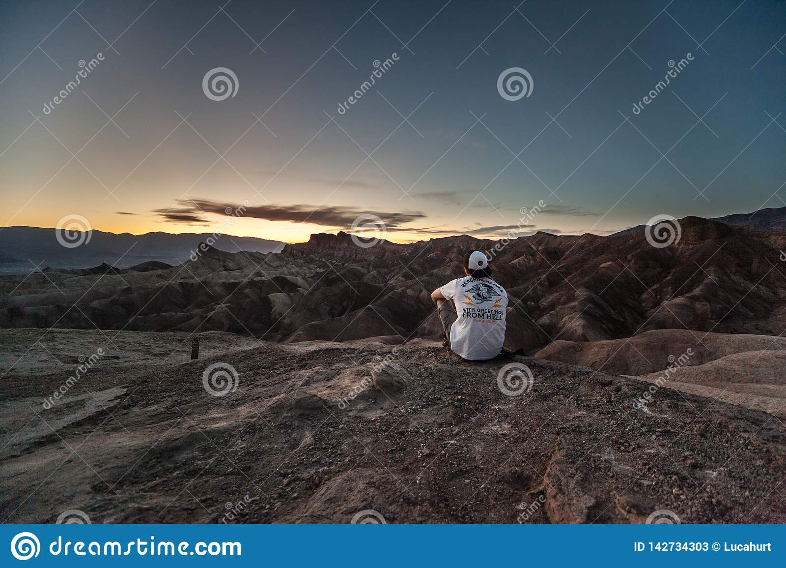 Punto de Zabriskie, Death Valley, California, los E.E.U.U.
