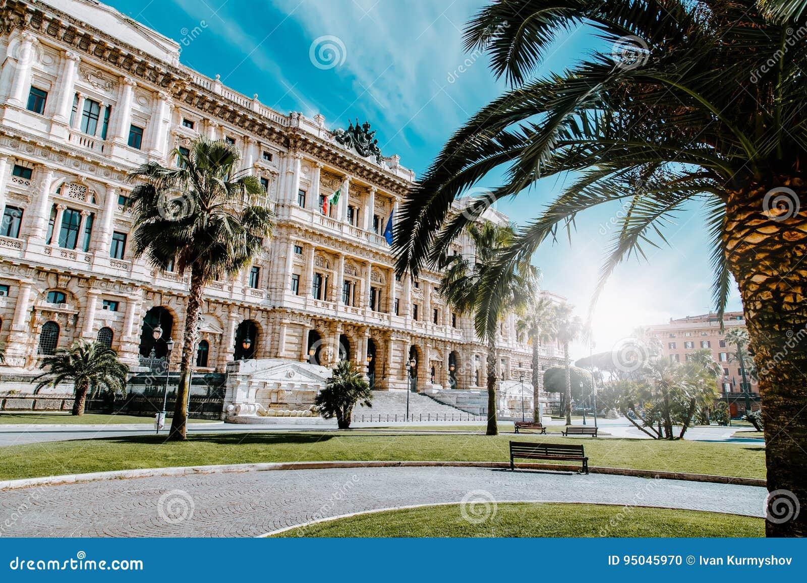 Punto di vista di Corte Suprema di Cassazione dalla piazza Cavour