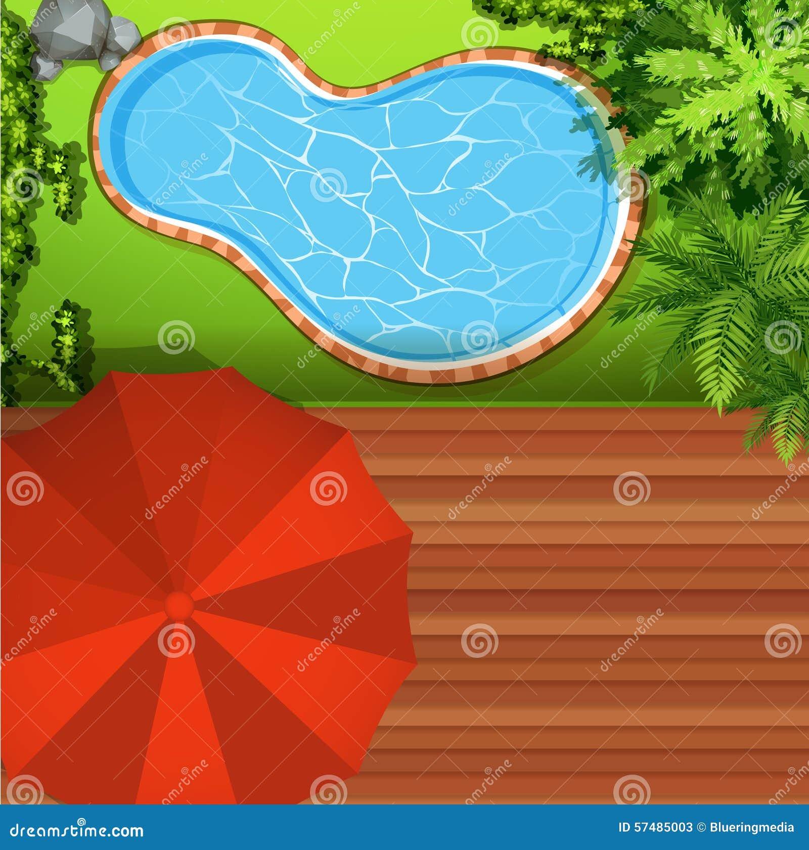 Punto di vista di Hawkeye della piscina