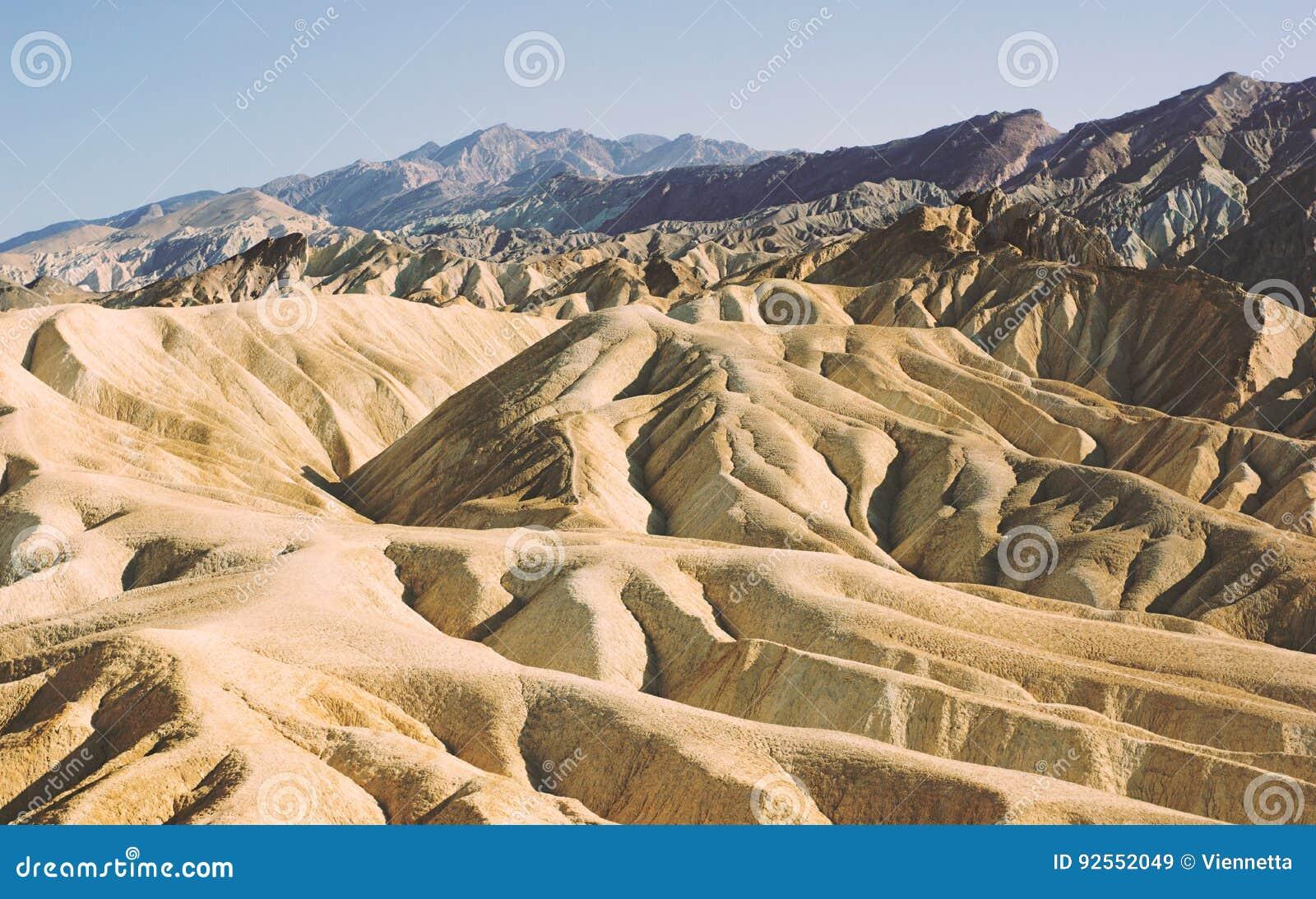 Punto di Zabriskie nel parco nazionale di Death Valley