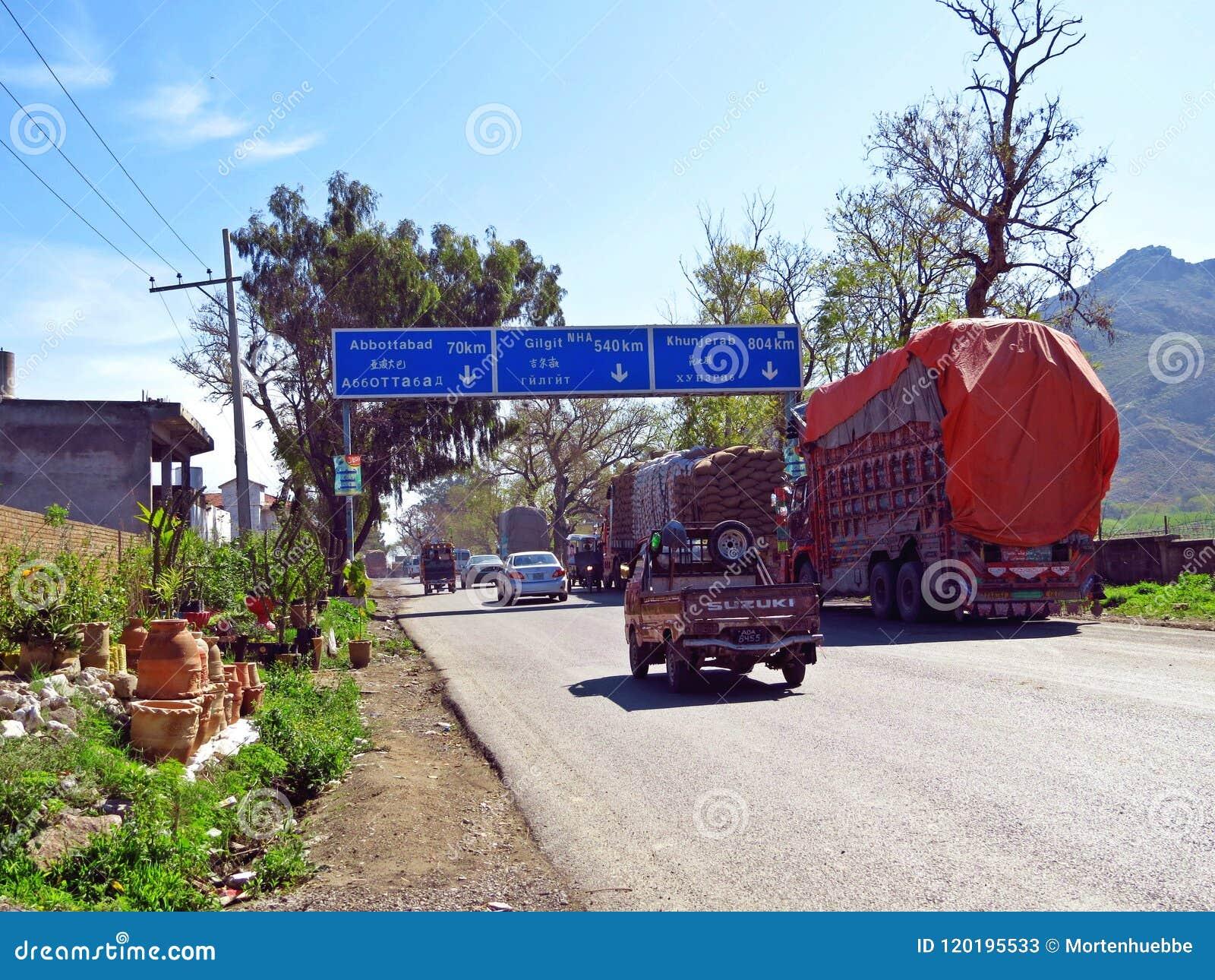 Punto inicial de la carretera de Karakoram, Hasan Abdal, Paquistán