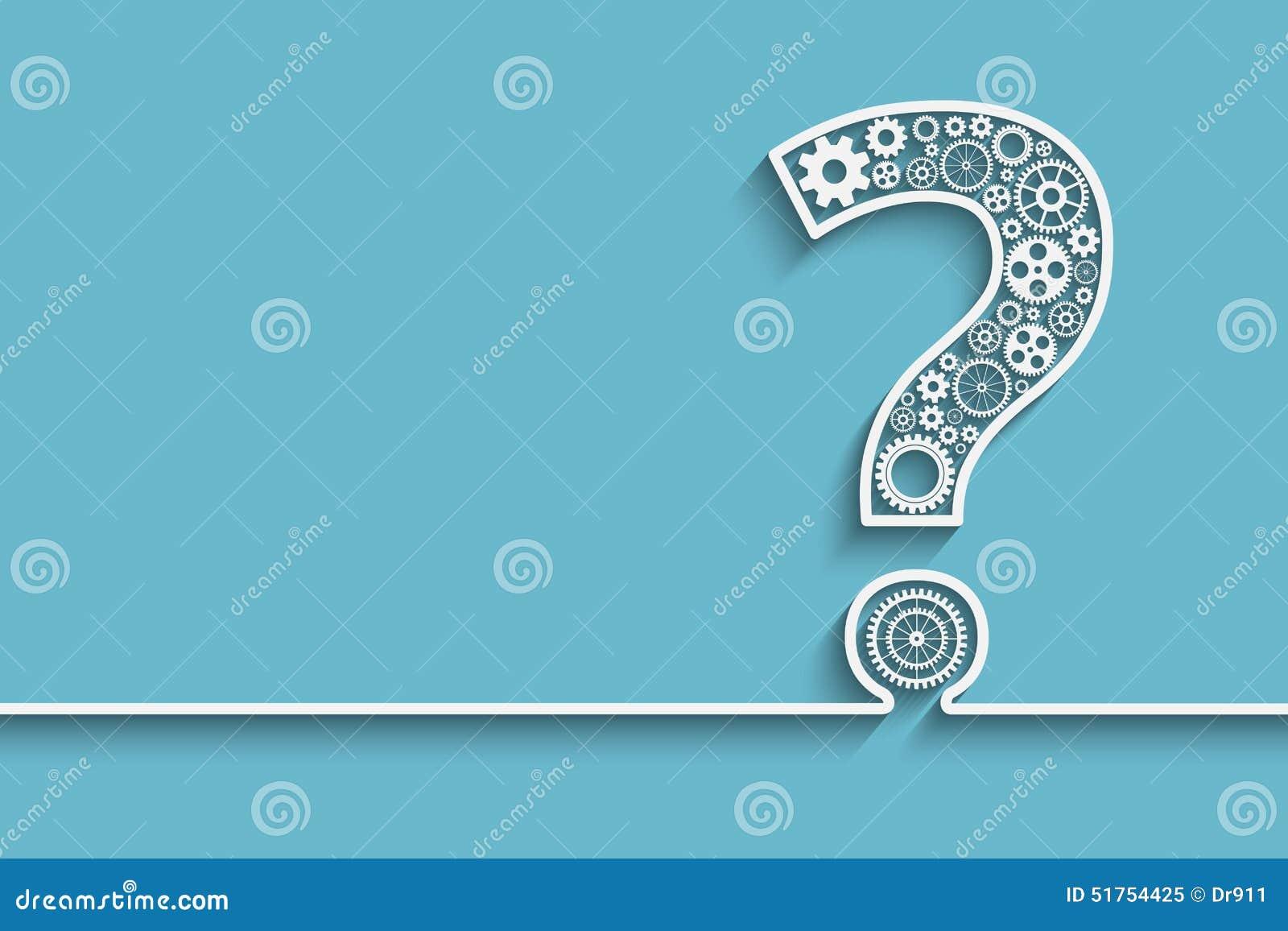 Punto interrogativo dagli ingranaggi
