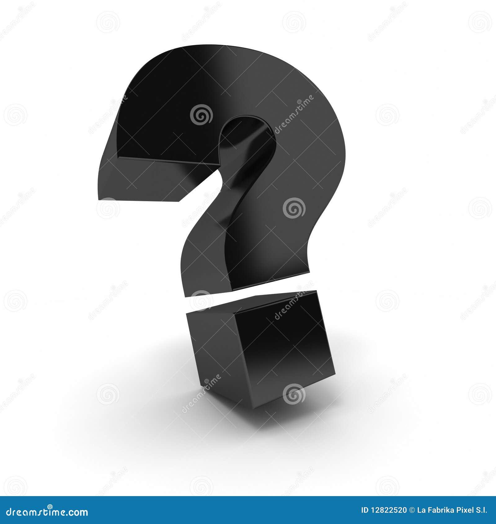 Punto interrogativo nero