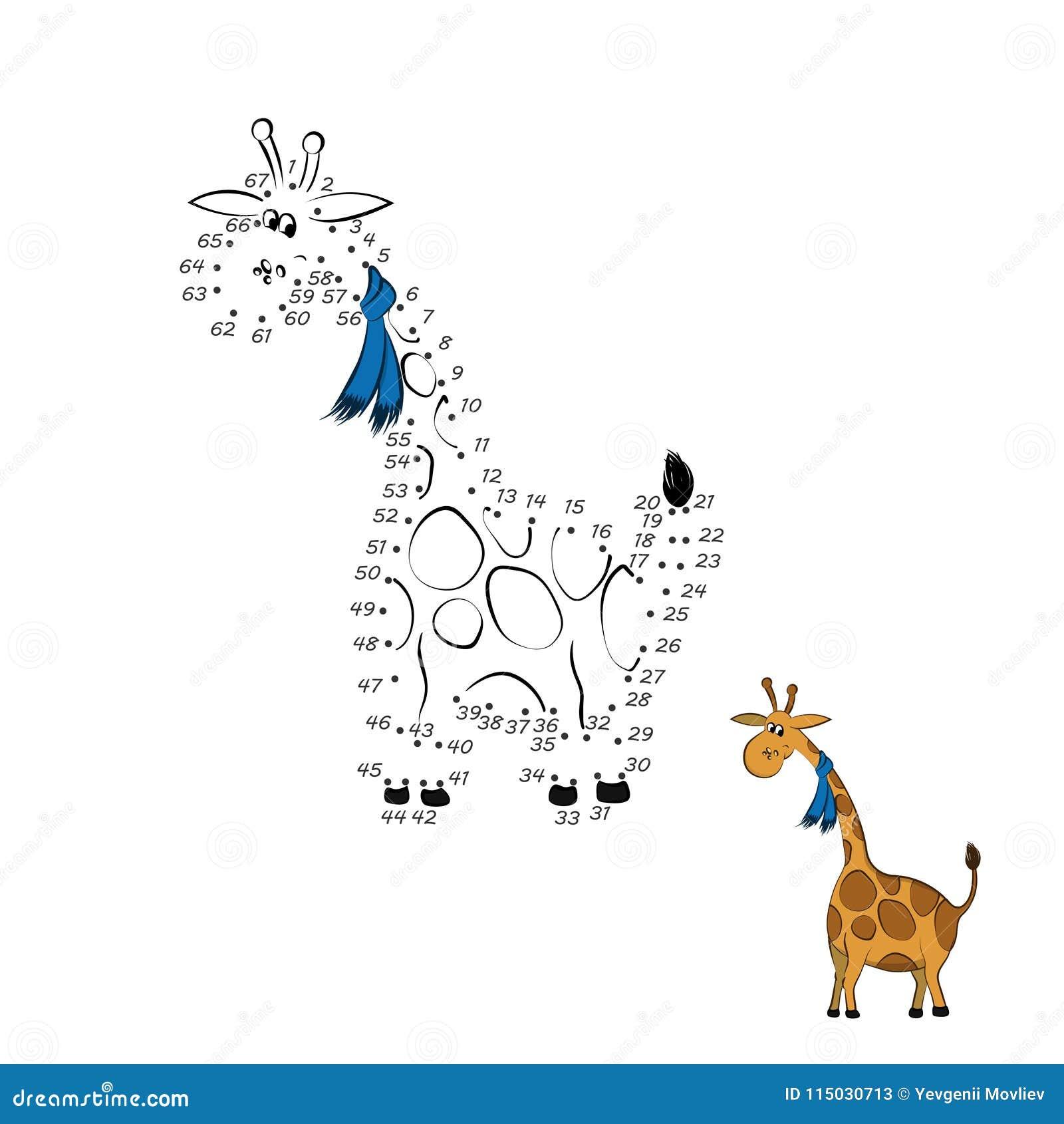 Punto Para Puntear El Juego E Animales Del Parque Zoológico E ...