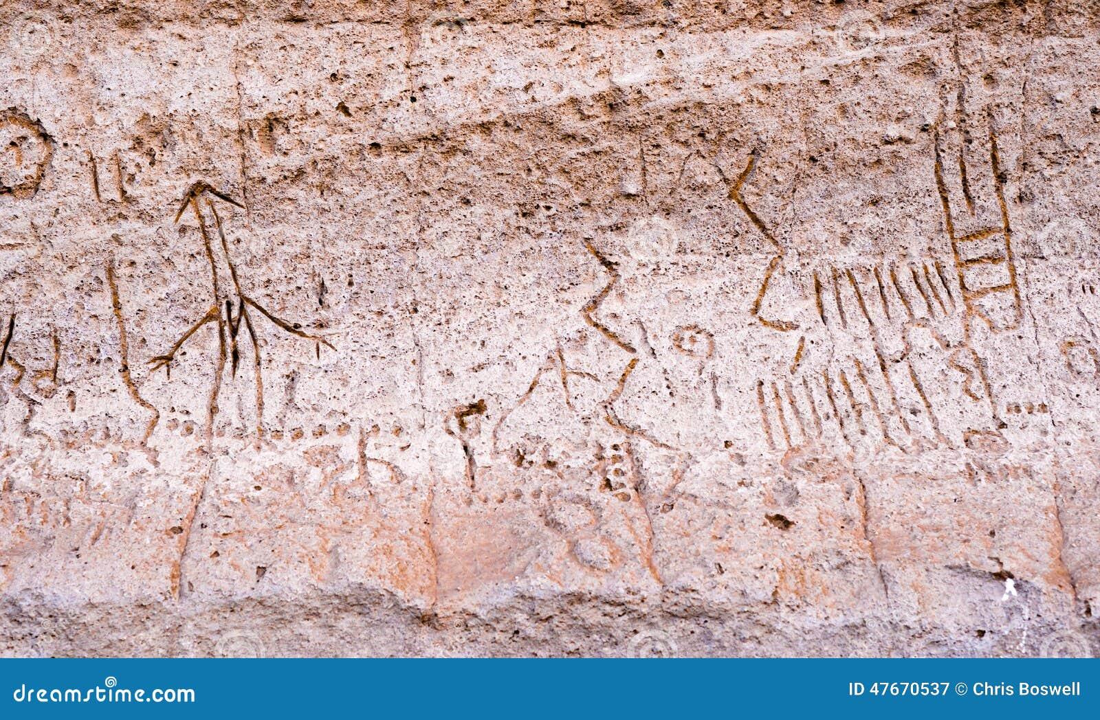 Punto Pictopraphs Modoc antiguo Cliff Art del petroglifo de Lava Beds nanómetro