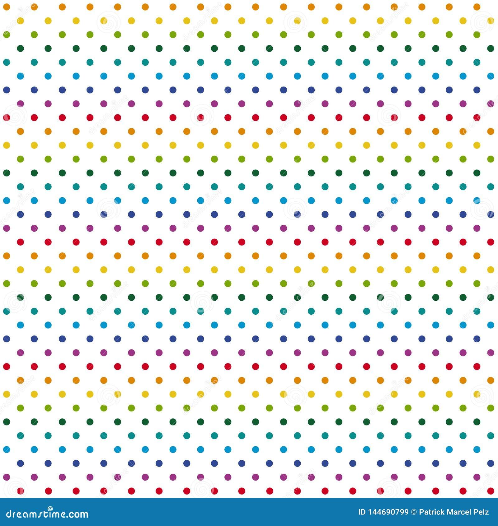 Puntos coloridos sin fin del fondo