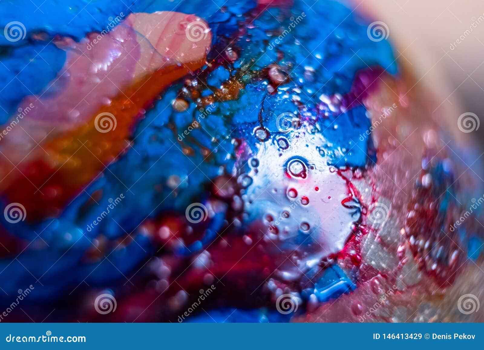 Puntos de la pintura, foto macra
