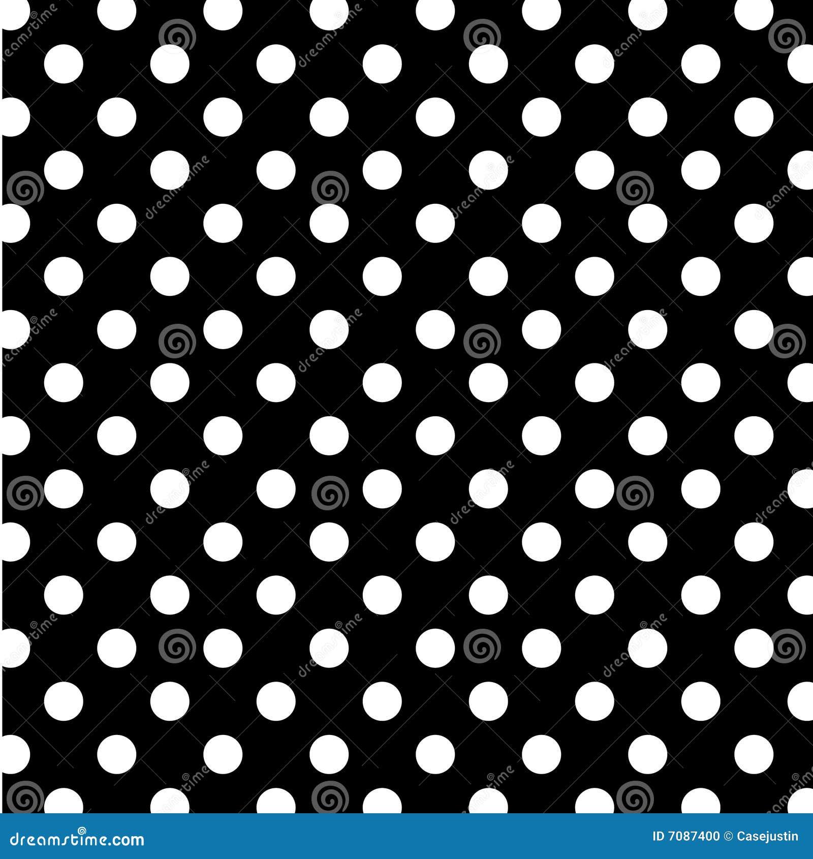 Puntos de polca blancos grandes de +EPS en BG negra