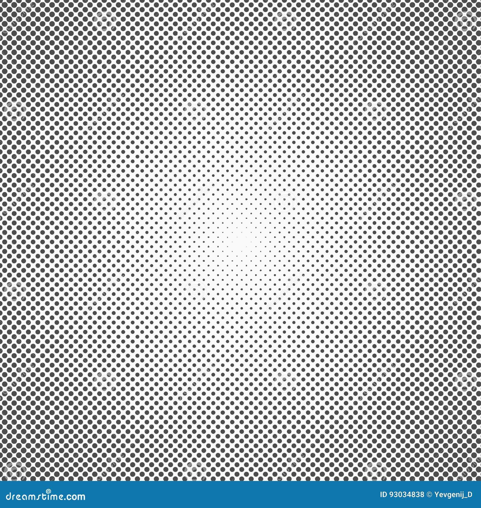 Puntos de semitono El fondo monocromático de la textura del vector para preprensa, DTP, tebeos, cartel Plantilla del estilo del a