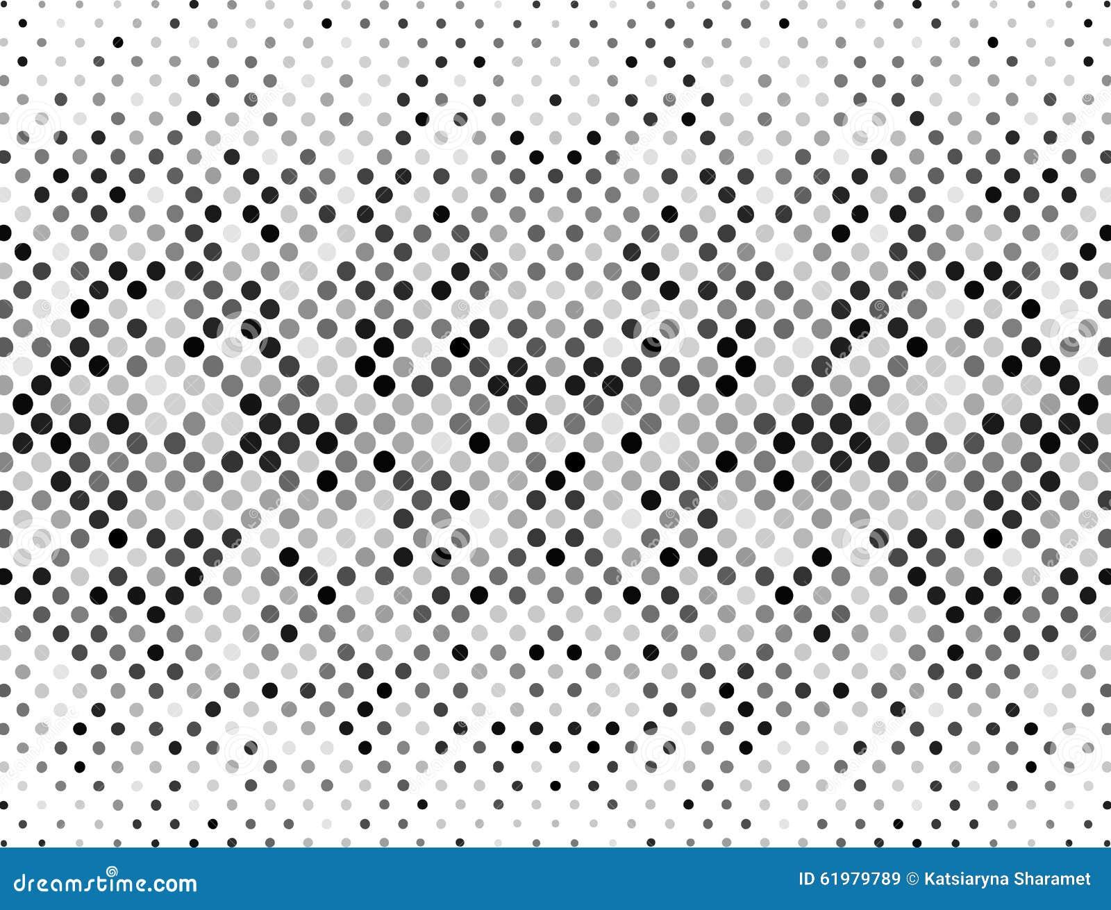 Puntos de semitono, negro y gris en un fondo blanco Fondo de semitono para su diseño