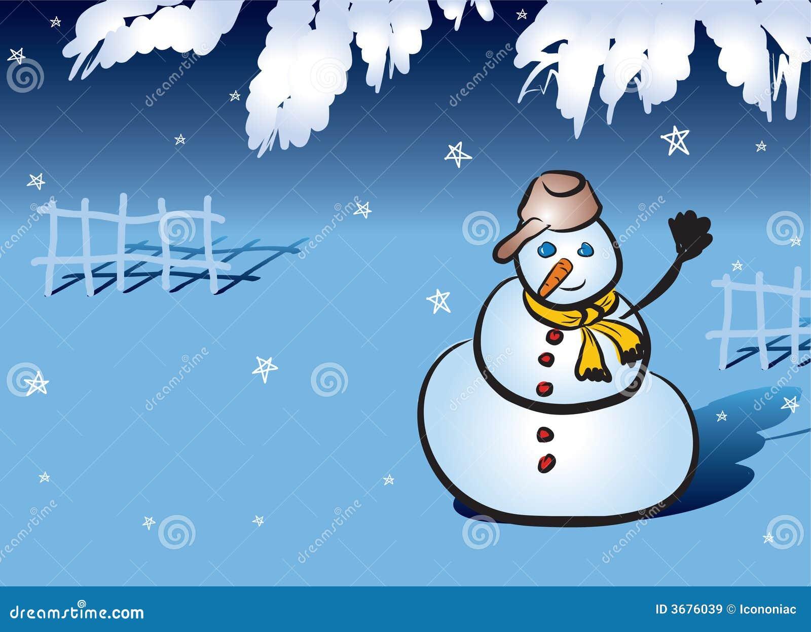 Download Pupazzo di neve illustrazione vettoriale. Illustrazione di aperto - 3676039