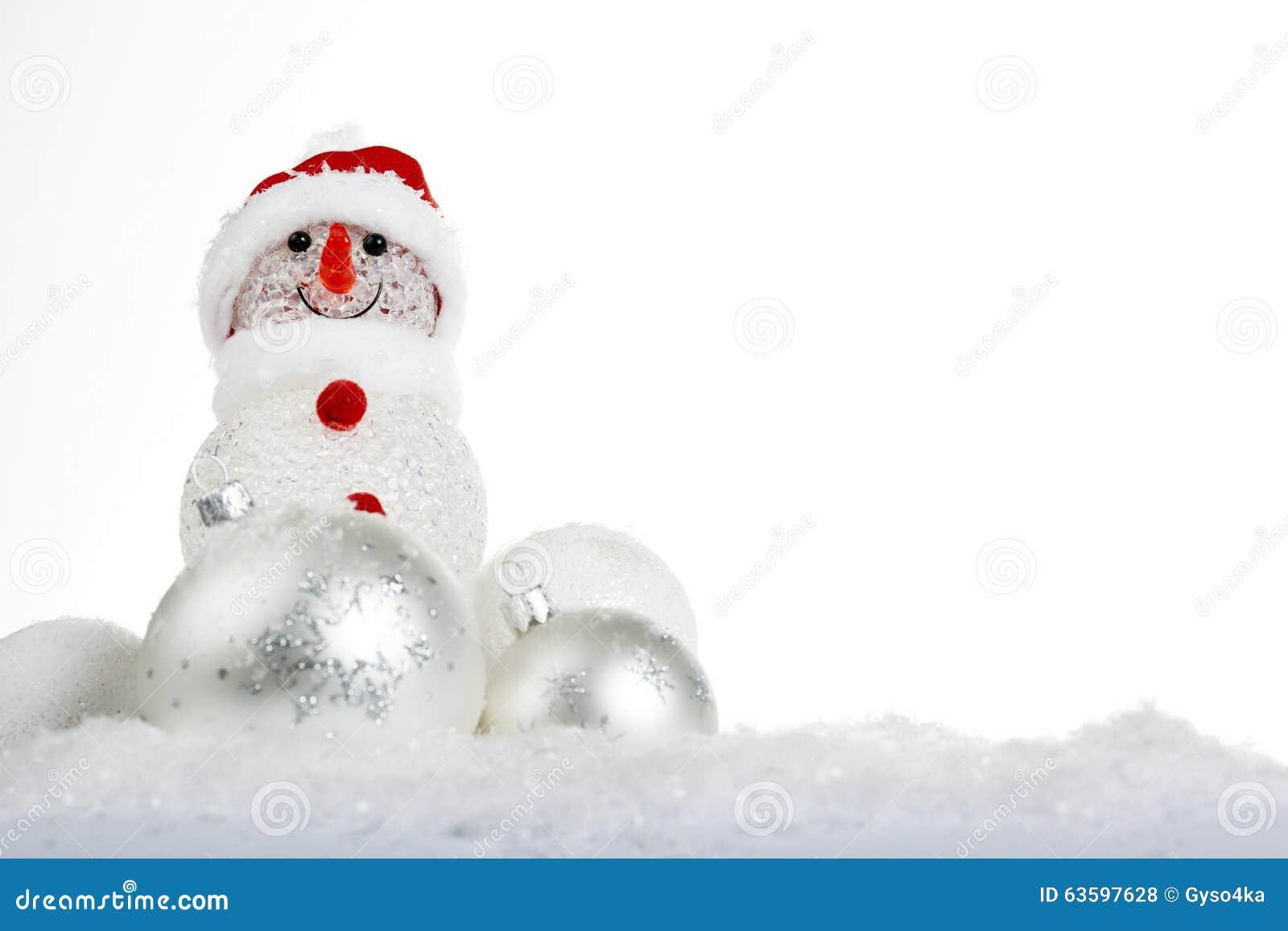 Pupazzo di neve nella neve con le palle di natale for Antifurto con le palle