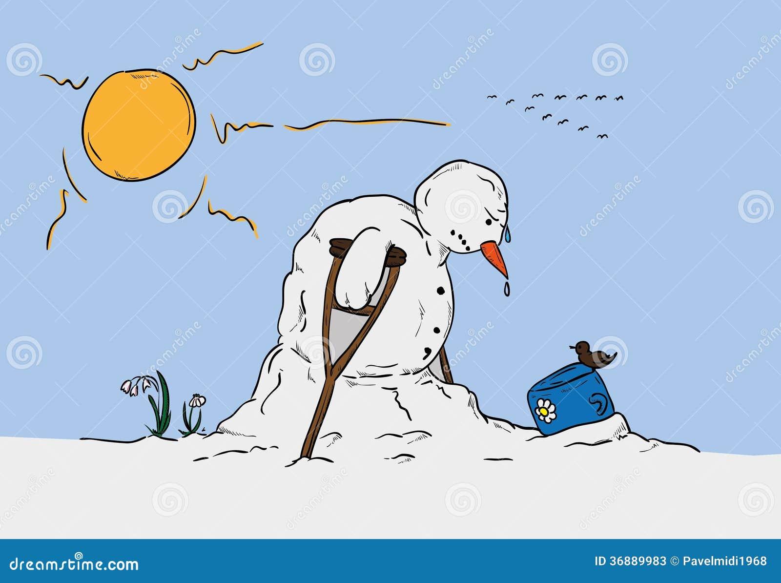 Download Pupazzo Di Neve A Tempo Di Molla Illustrazione di Stock - Illustrazione di festa, uccello: 36889983