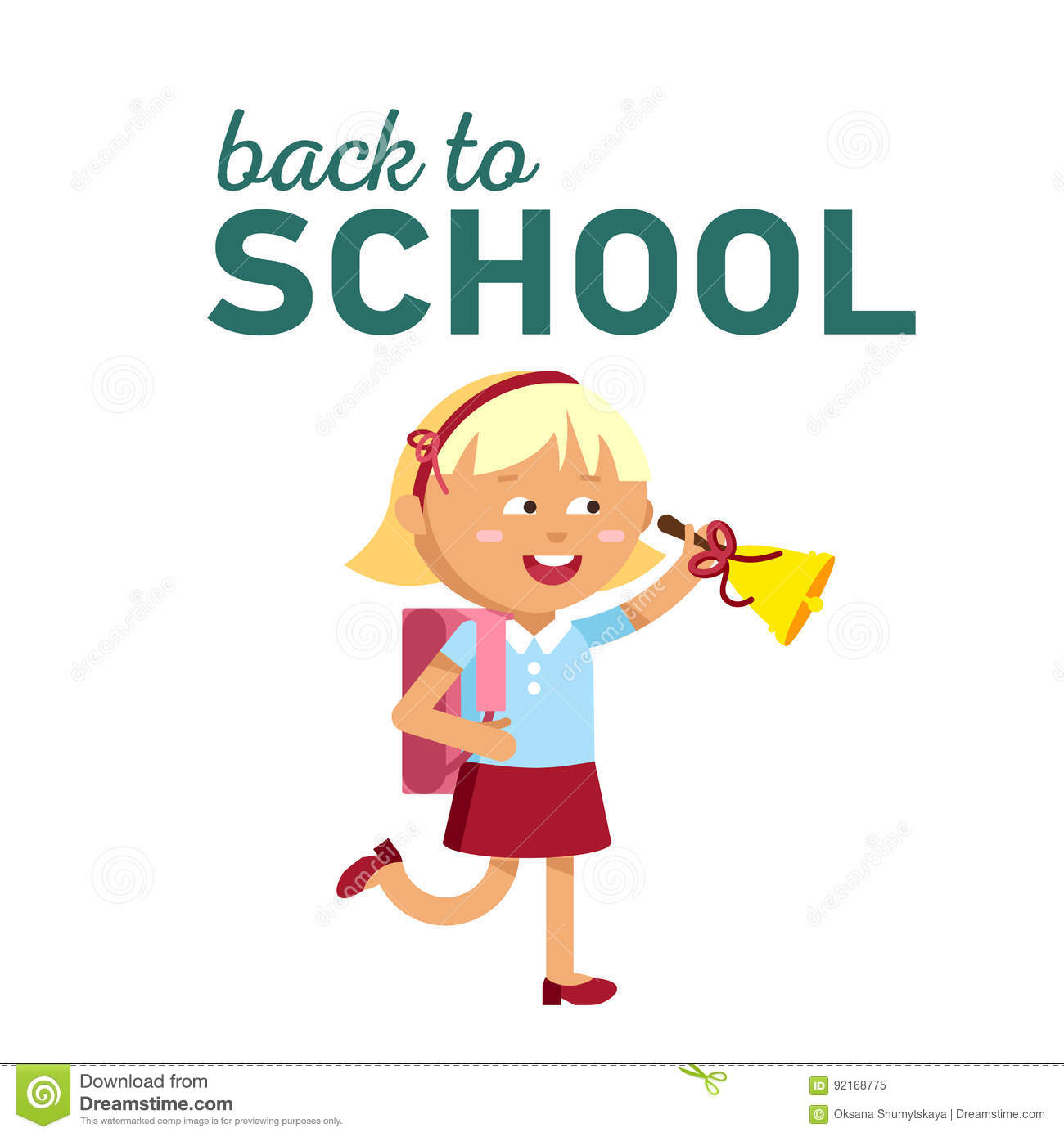 Pupils With School Backpacks Stock Vector - Image: 92168775