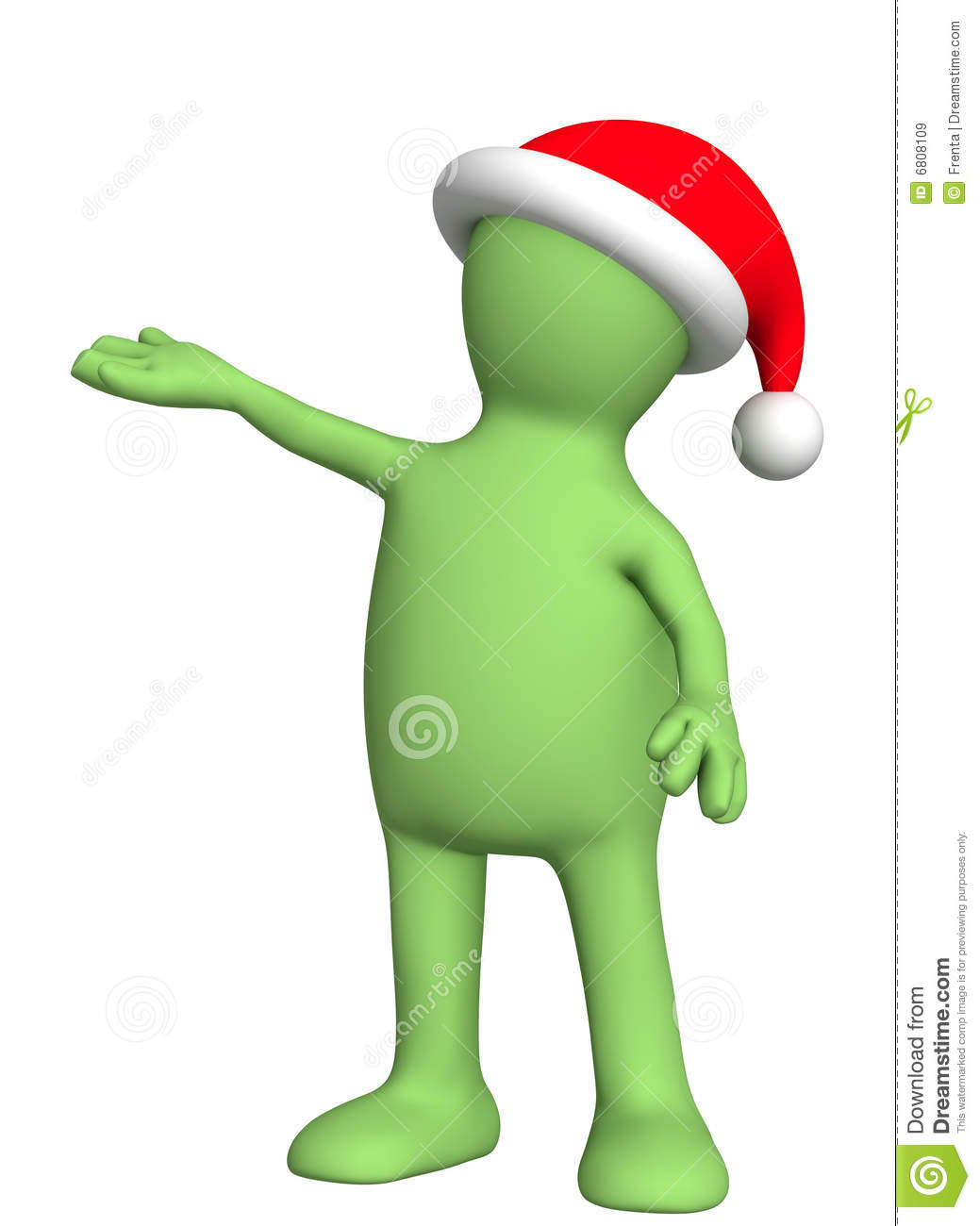 Puppet in a christmas costume