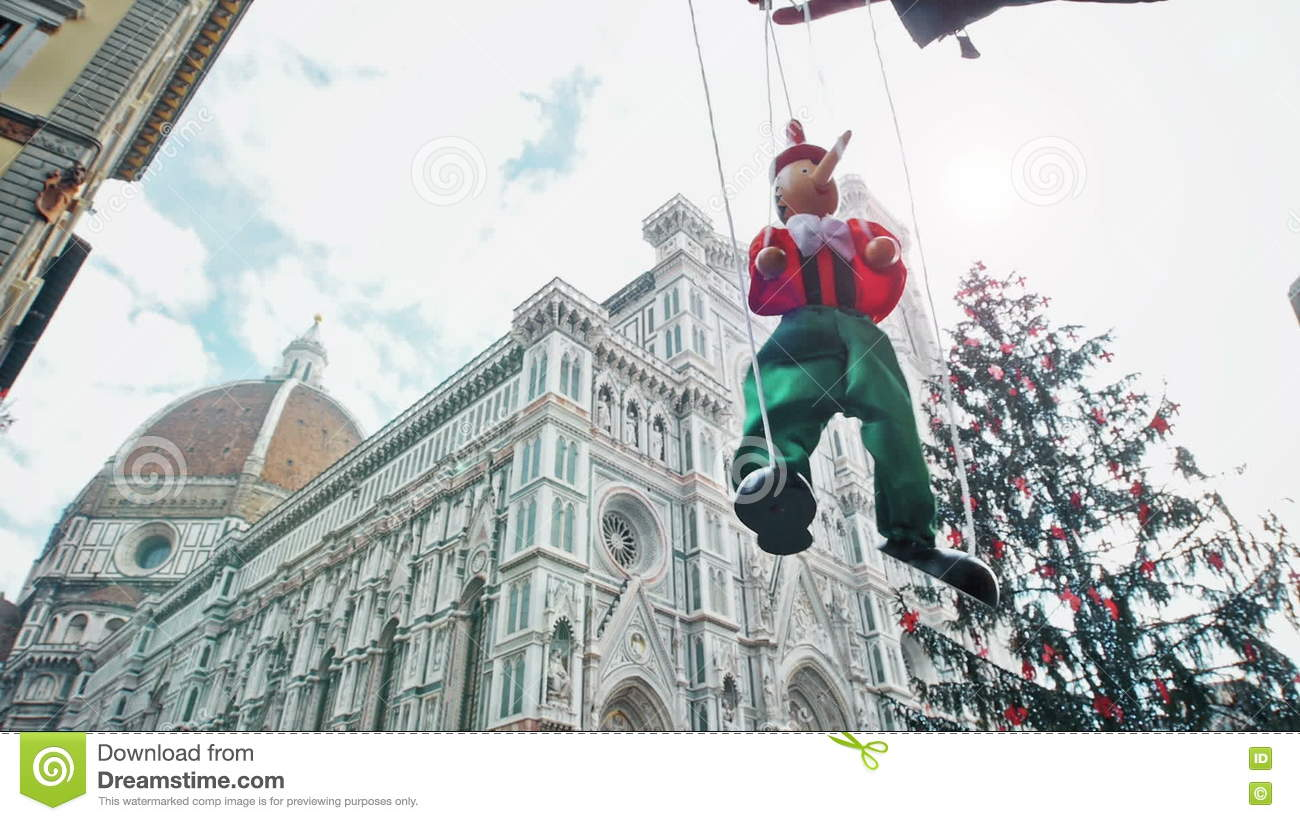 Puppet Pinocchio In Florence Cathedral Italy Stock Footage - Video ...