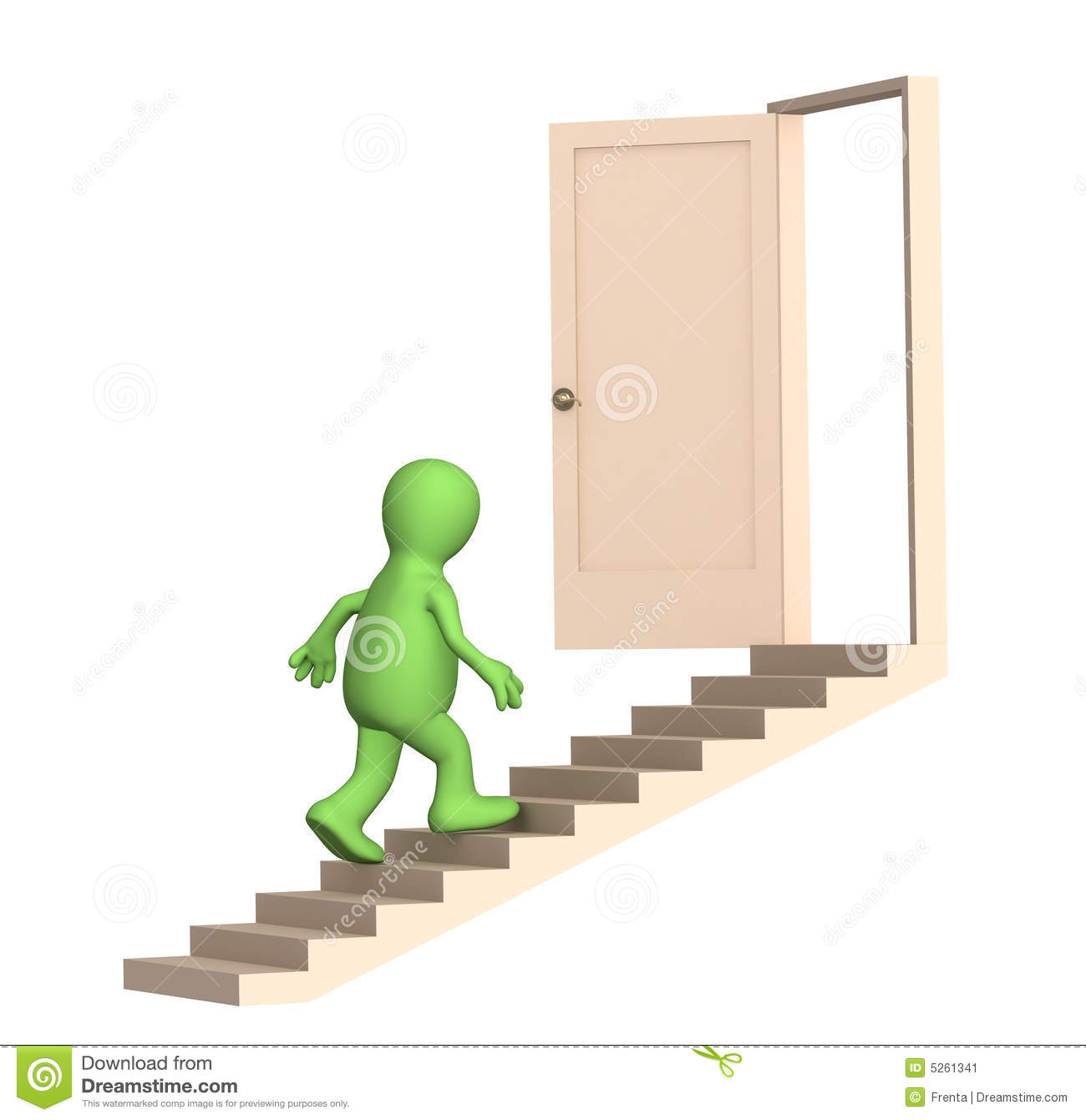 puppet walking upstairs to an open door stock image staircase clip art in football stadium stairs clipart cartoon