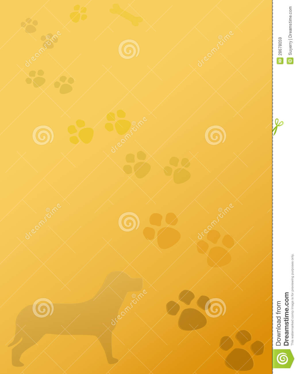 Puppy Dog Paws Stationery Notepad Background Stock ...