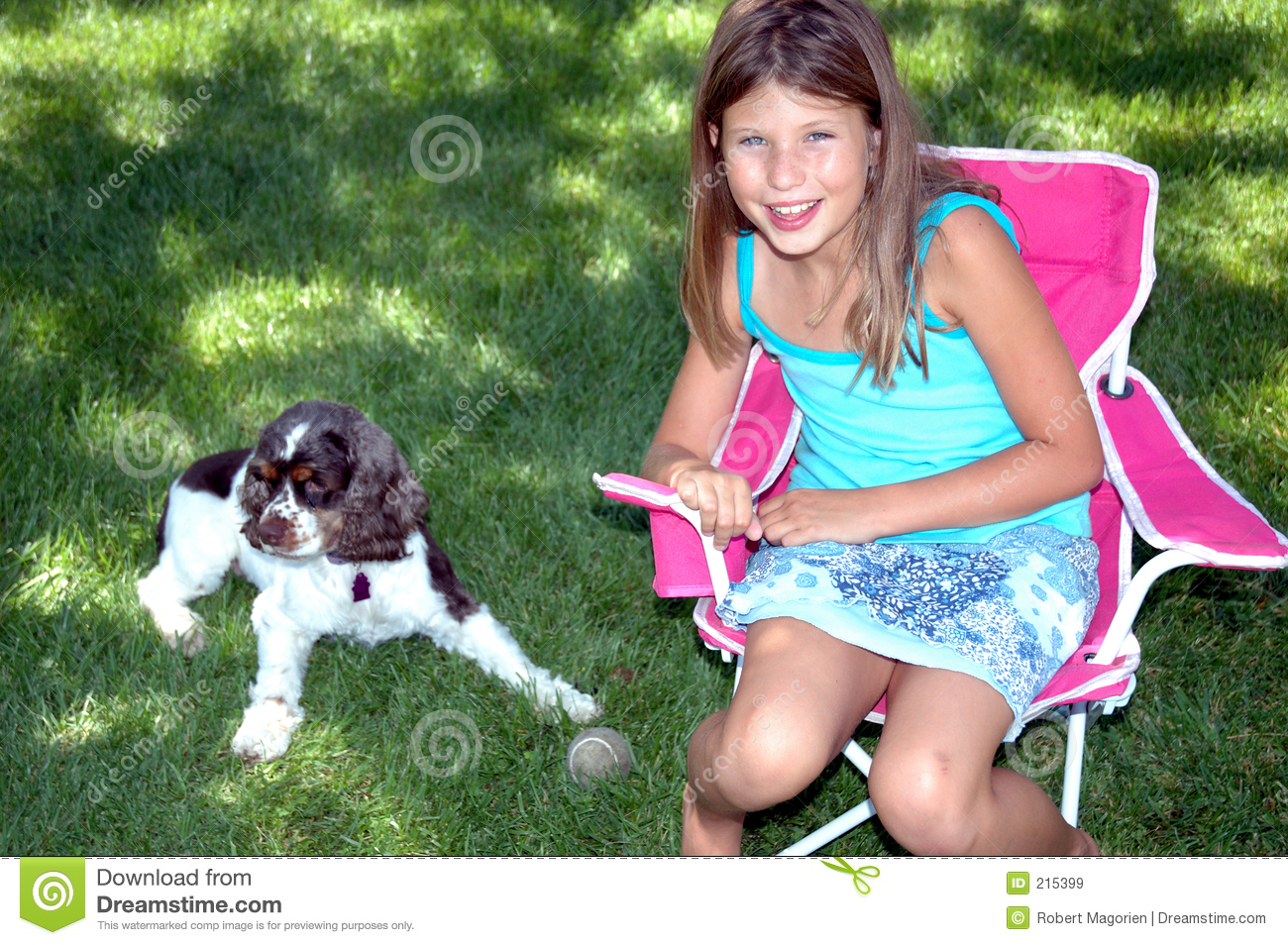 puppy and girl 1