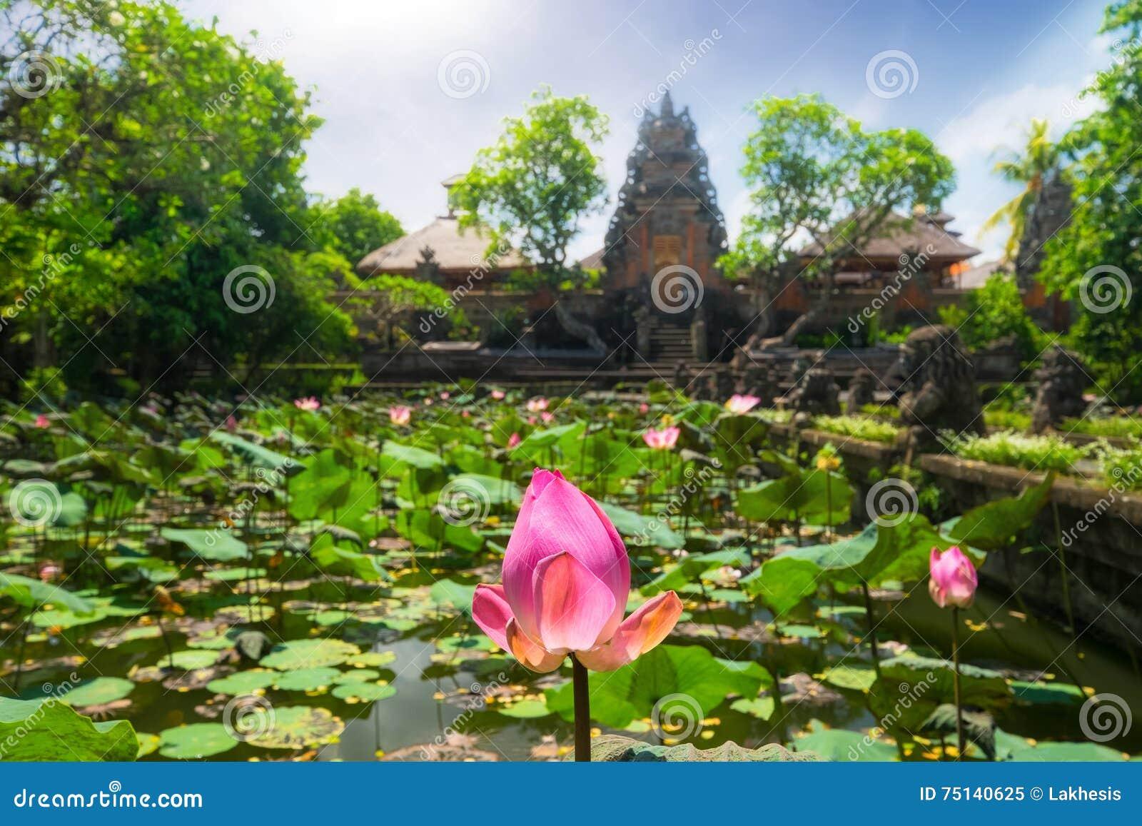 Pura Saraswati Hindu Temple In Ubud Bali Indonesia Stock Image