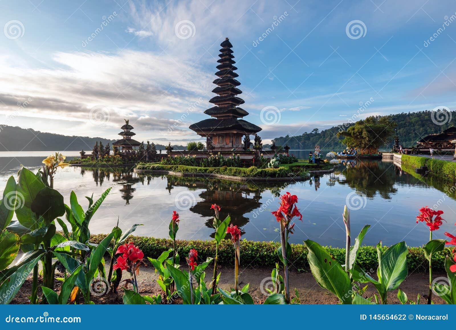 Pura Ulun Danu Bratan In Bedugul Bali Stock Photo Image Of