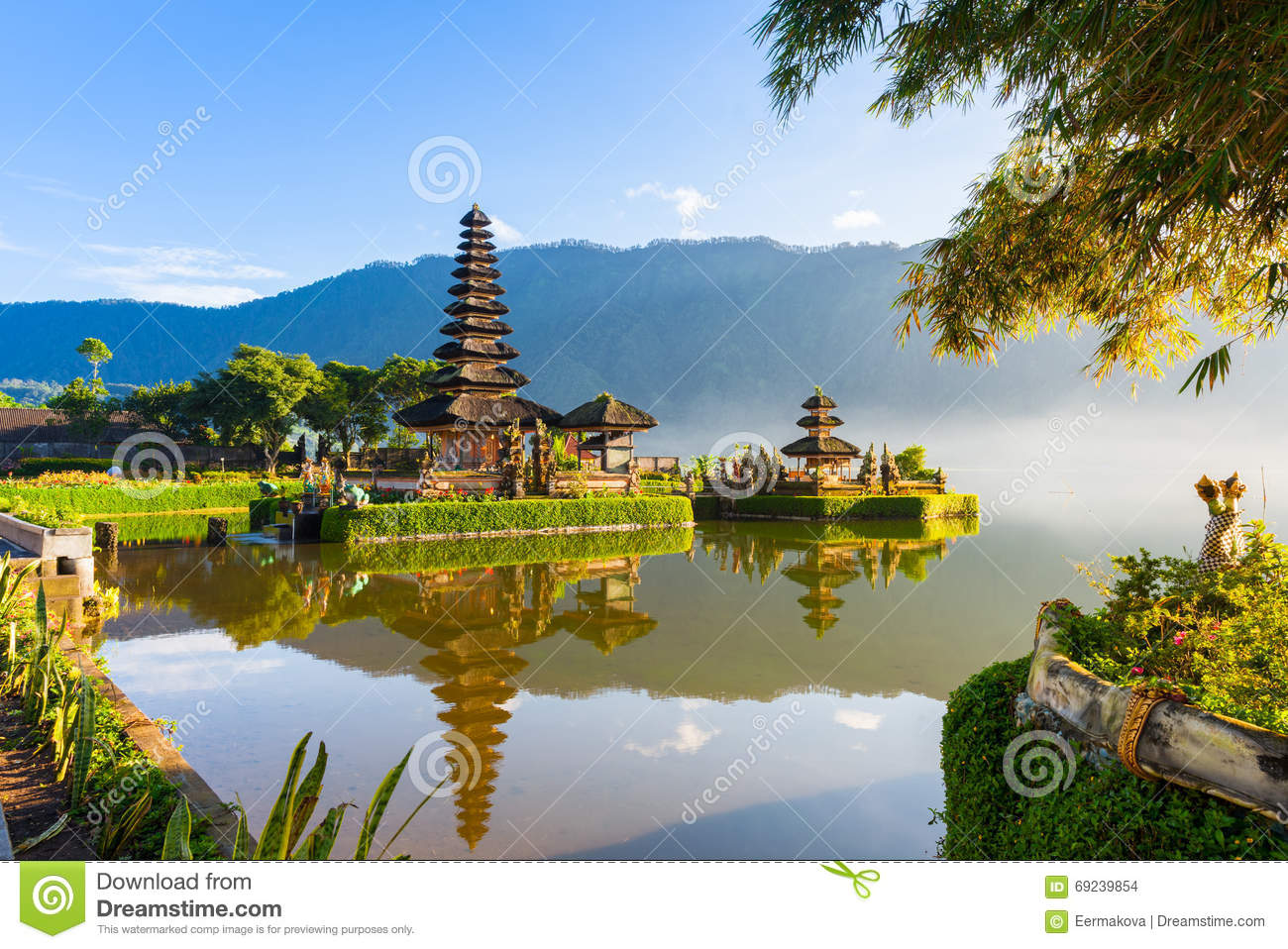 Pura Ulun Danu Bratan at sunrise, Bali, Indonesia
