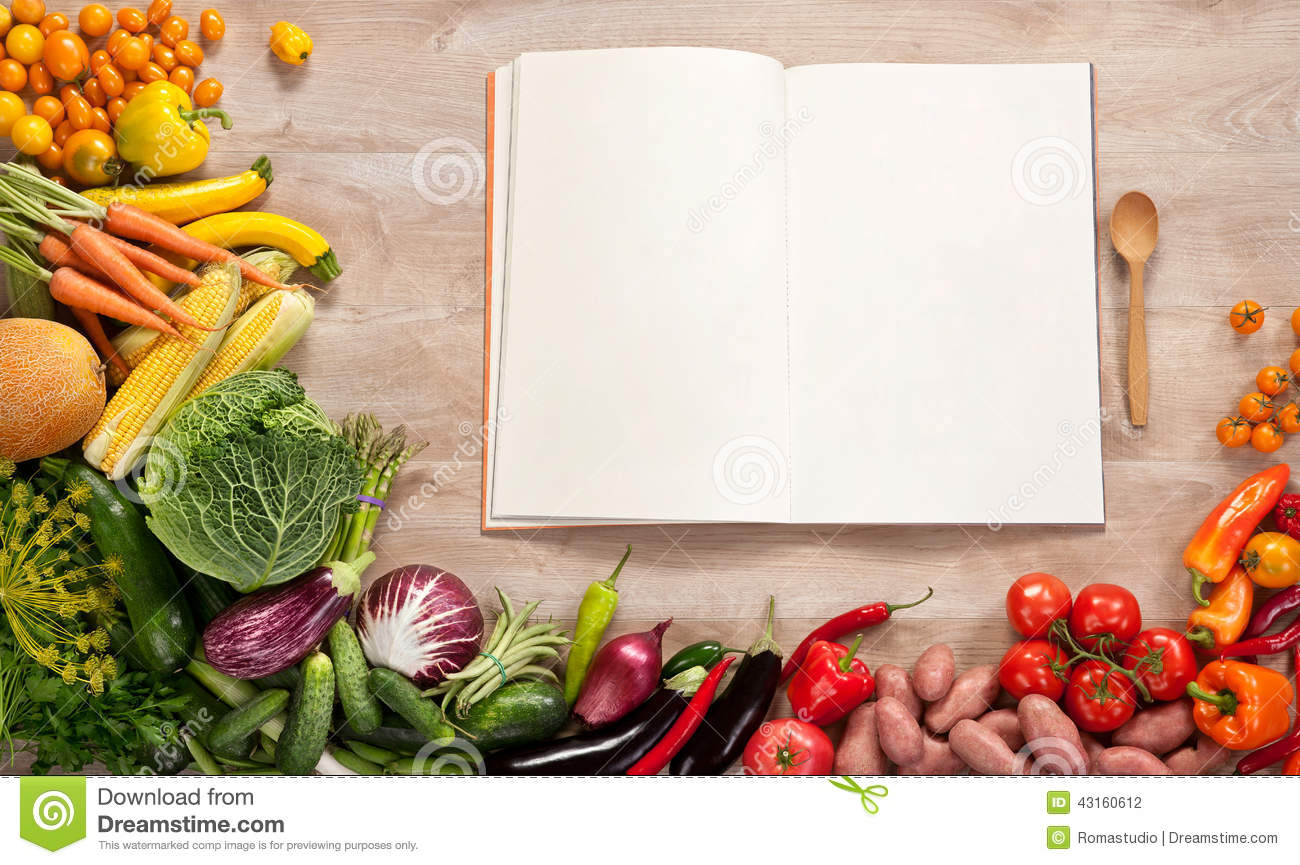 Purchase list. Shopping List. Cookbook. Cookery book. Copy space