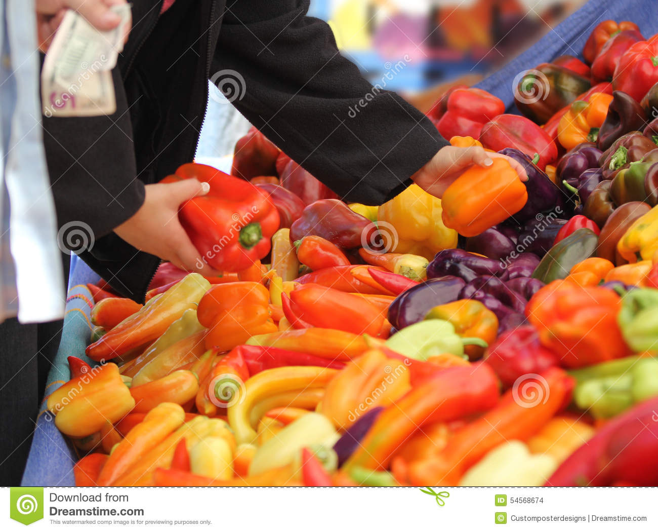 Download Purchasing Produce With Money. Stock Photo - Image of activity, basket: 54568674
