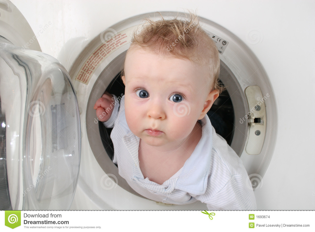 Pure Baby From Washer 2 Stock Images Image 1693674