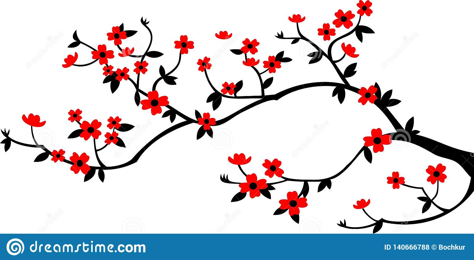 Pure branch and flowers