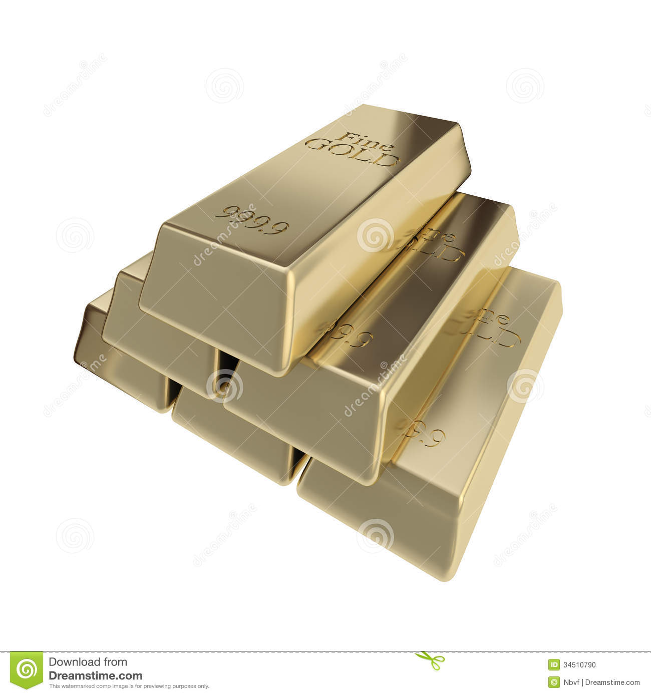pure golden bar gold pyramid stack isolated stock