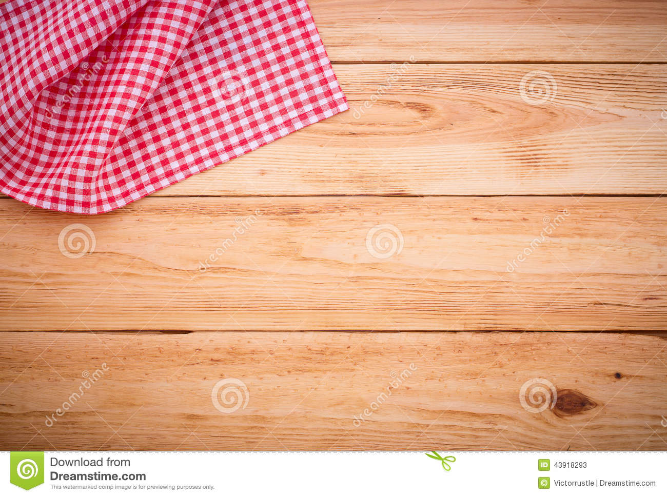 Pure notebook for recording menu recipe on red checkered