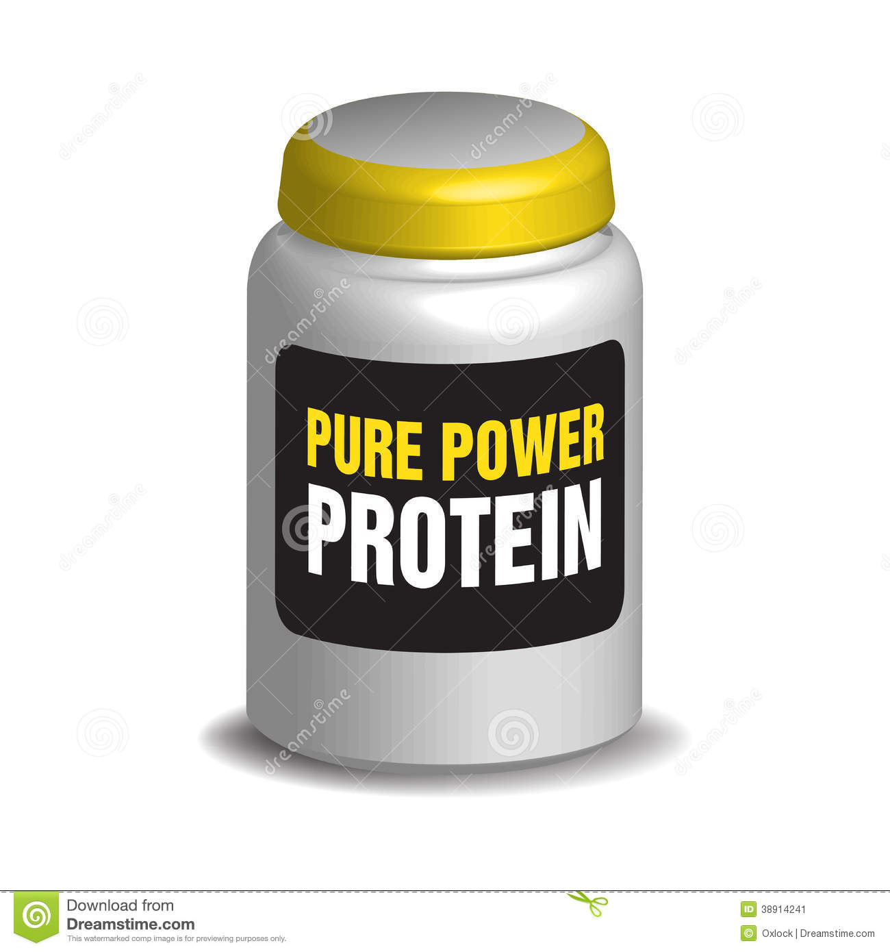 Pure Power Protein Stock Illustration - Image: 38914241