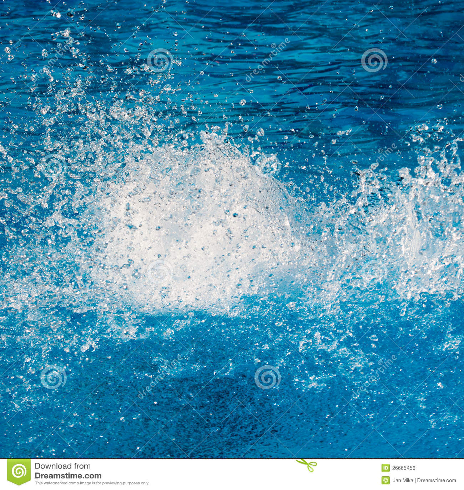 pool water splash. Pure Water Splash Pool