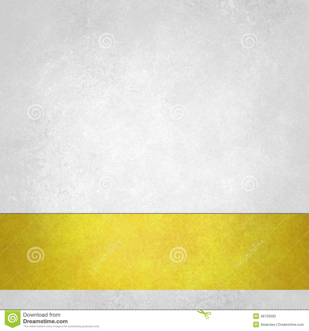 Pure white background with gold footer stripe on bottom border, old white paper vintage background texture