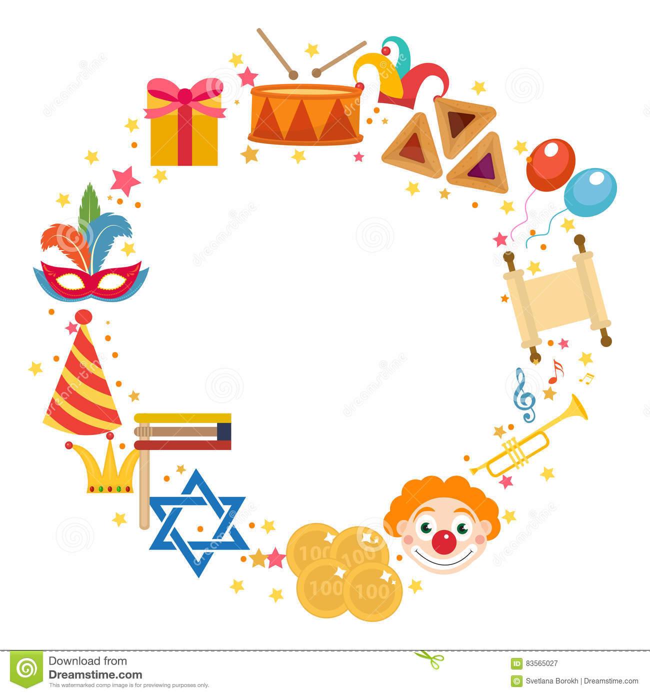 purim frame template with space for text on white background rh dreamstime com
