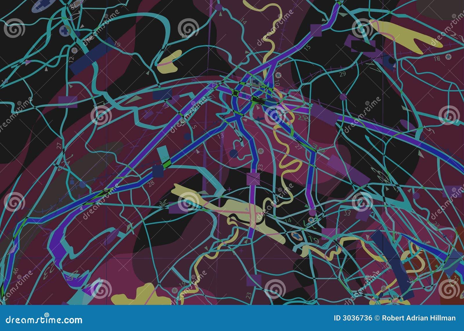 Purpere abstracte kaart