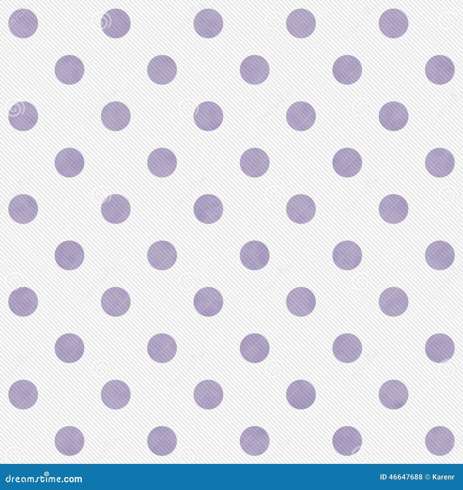 Purpere en Witte Grote Polka Dots Pattern Repeat Background