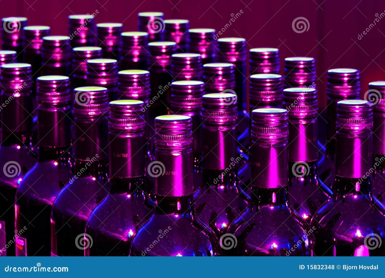Purpere flessen