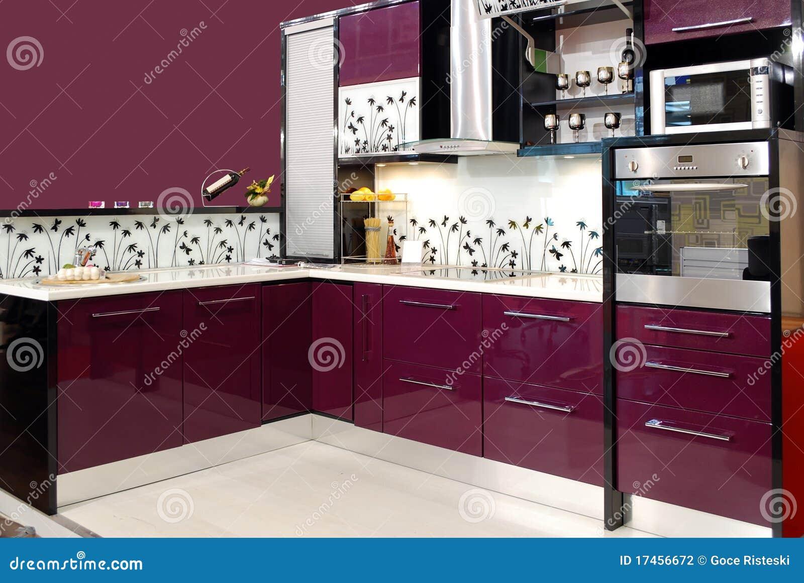 Purpere keuken