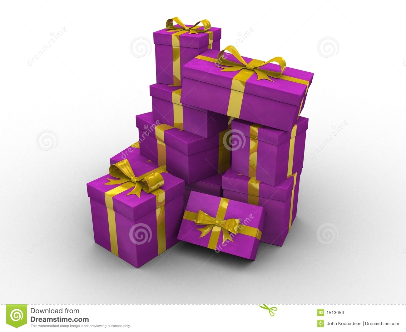 Purple d gift boxes stock images image